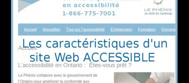 site web accessible